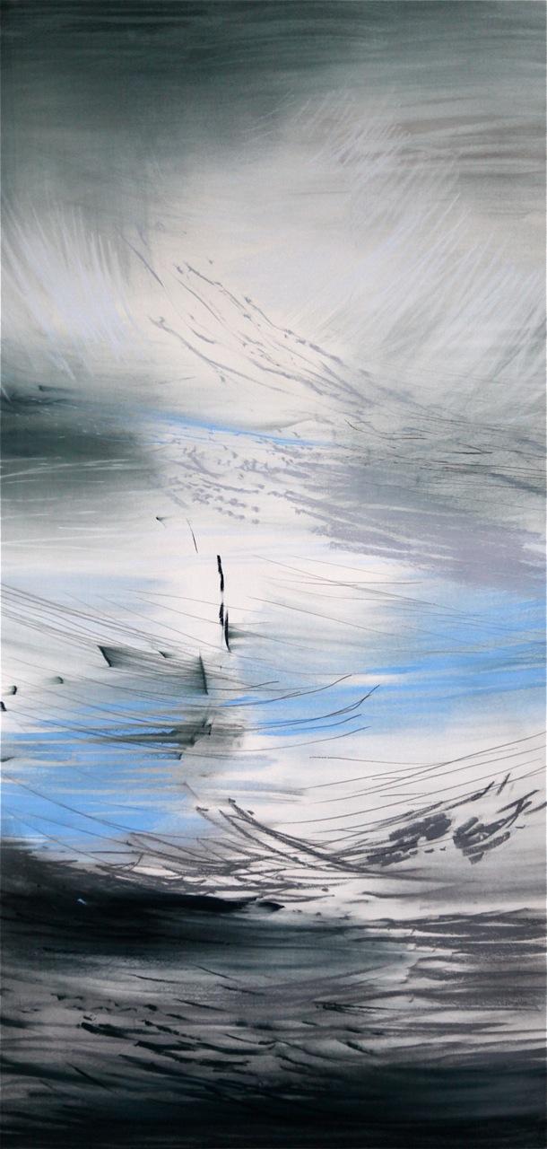 """Tegning fra utstillingen """"Himmel og Hav"""""""